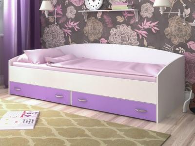 Кровать с выкатными ящиками Ярофф белый-ирис