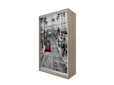 Шкаф-купе Хит 2-х дверный Лондон Ясень шимо темный