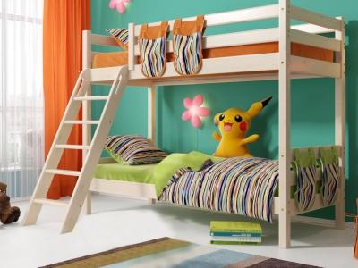 Двухъярусная кровать Соня с наклонной лестницей No 10