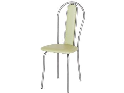 Кухонный стул Венский М серебристый металлик-оливковый